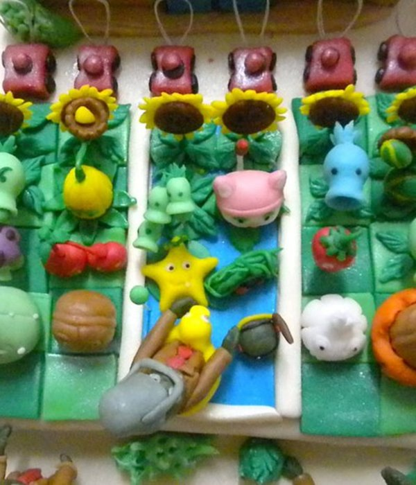 Plants Vs Zombie Cake For Sopia