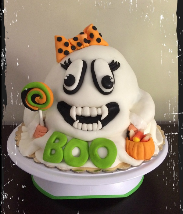 Vampire Ghost Cake Happy Halloween