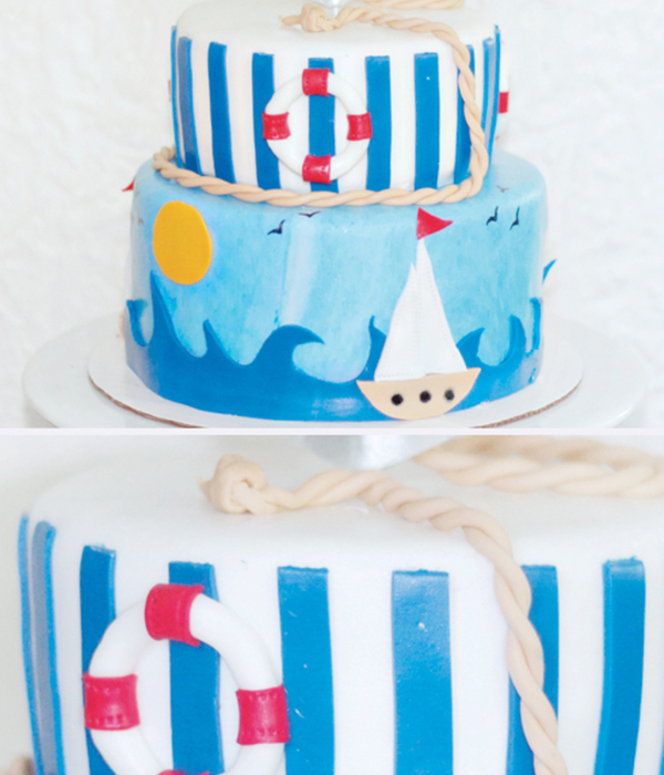Sailor Themed Bridal Shower Cake
