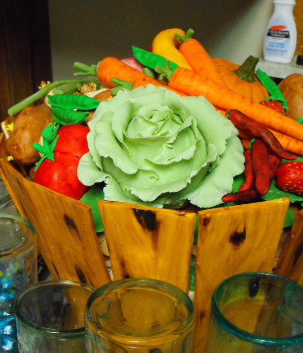 Whiskey Barrel/vegetable Cake
