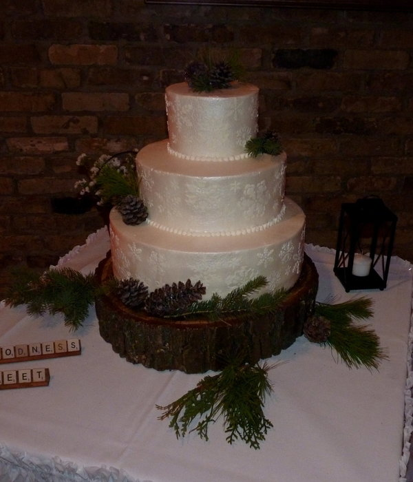 Rustic Winter Wedding 14 Wasc With Red Raspberry Filling 10...