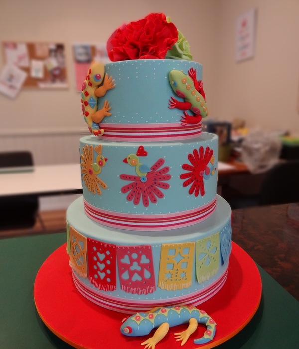 Mexican Fiesta Cake- Three Tiers