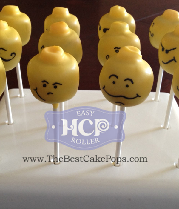 Lego Head Cake Pops By The Developer Of The Easy Roller