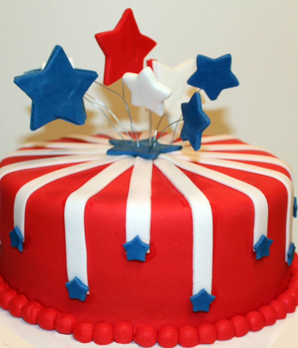 July 4Th Fireworks Cake