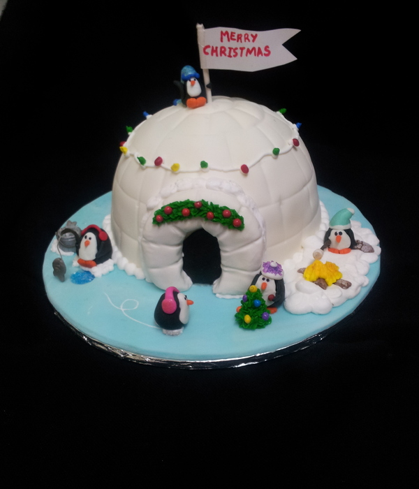 Igloo Penguin Cake