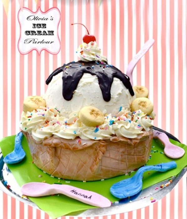 Decadent Ice Cream Sundae Cake