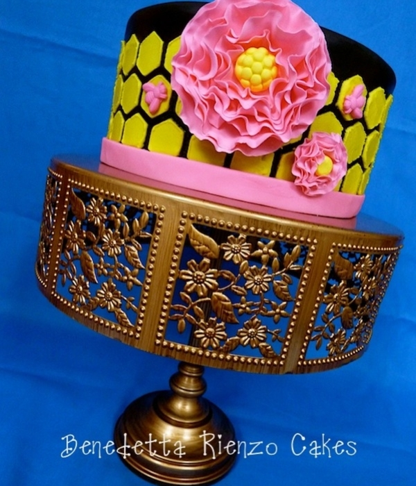 Hot Pink Bee Cake