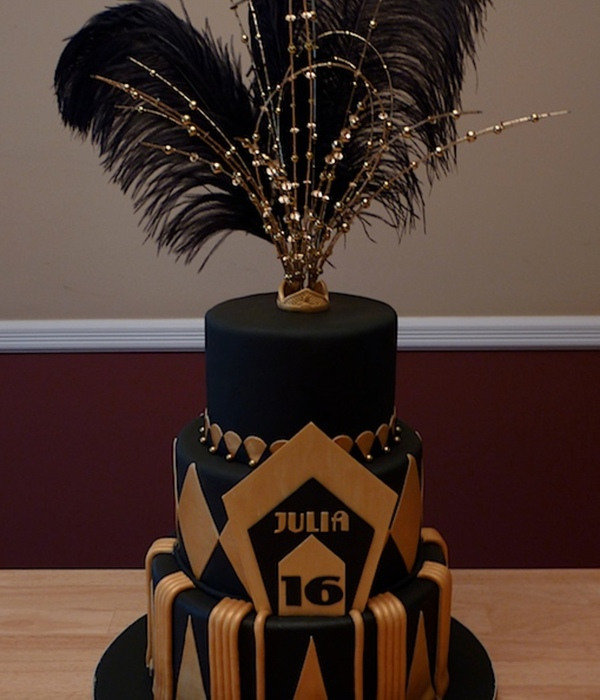Great Gatsby Sweet 16 Cake