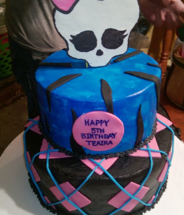 Buttercream Covered Cake With Fondant Accents And A...
