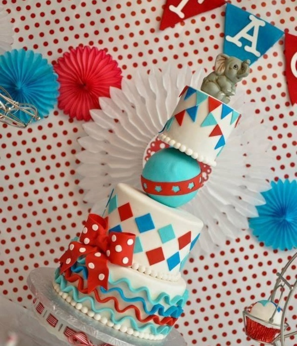 Circus Carnival Themed Cake