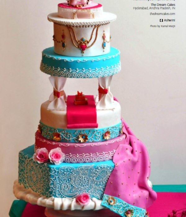 Bollywood Wedding Cake