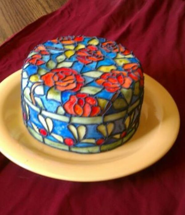 Tiffany Pattern Stained Glass Cake.