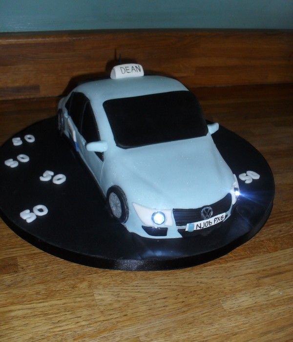 Car Cake With Led Lights
