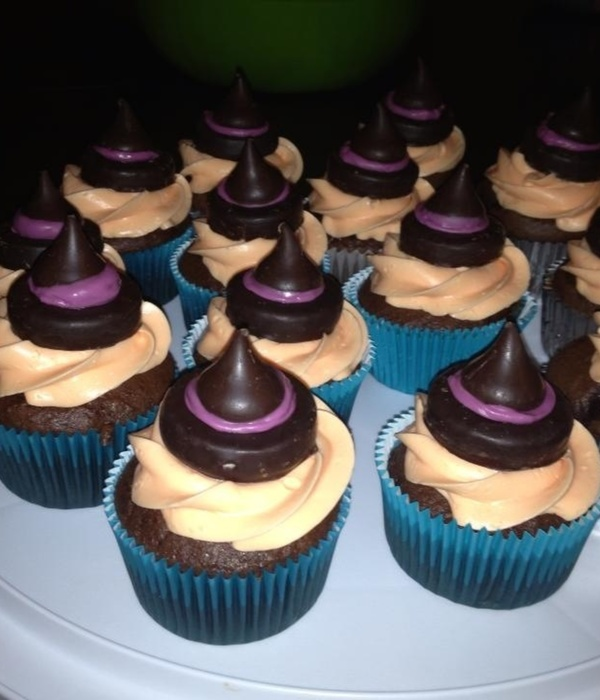 Witch Hat Cupcakes Peppermint Patties Melted Chocolate And...