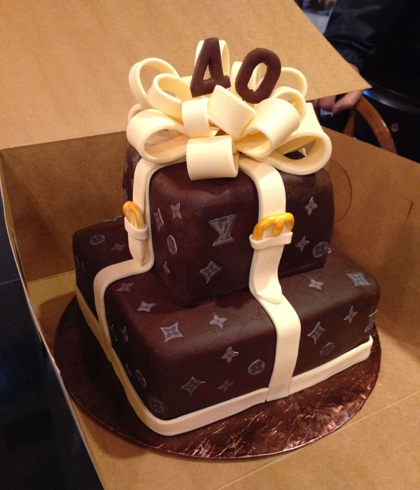Louis Vuitton Inspired Cake