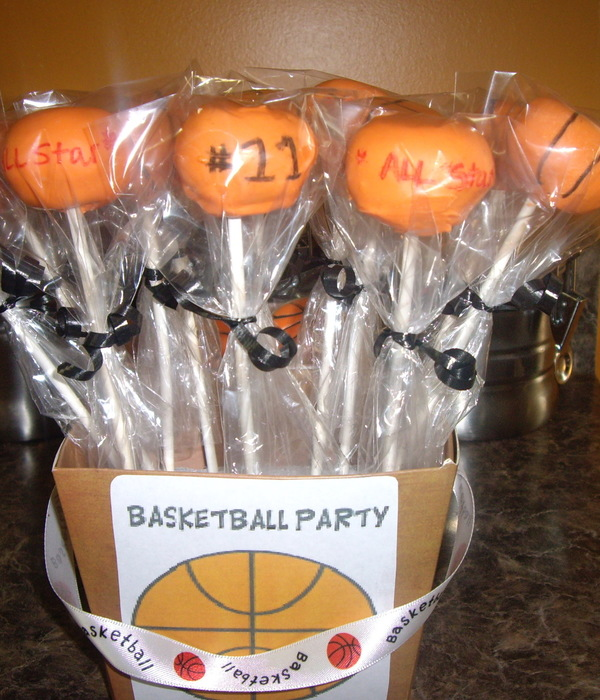 Basketball Cakepops