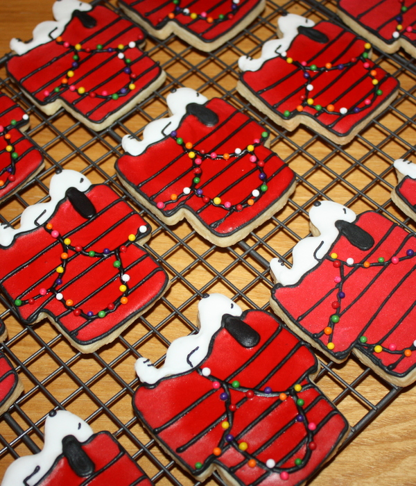 Snoopy Christmas Cookie