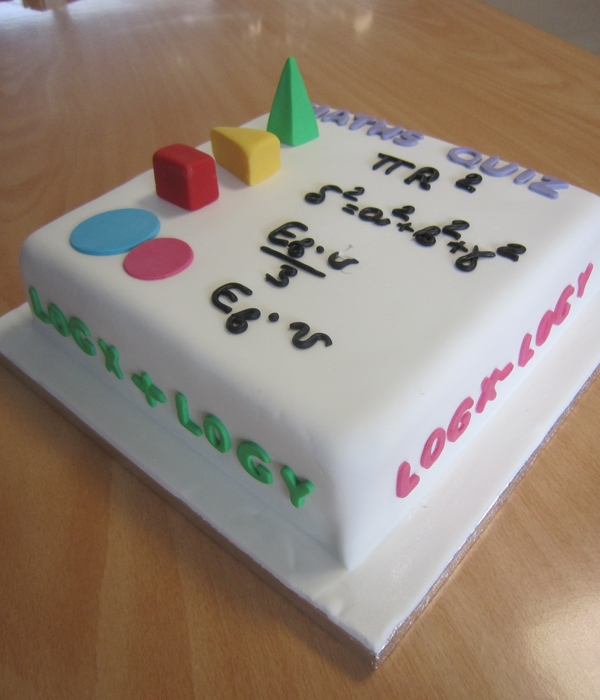 Maths Quiz Cake!!!!