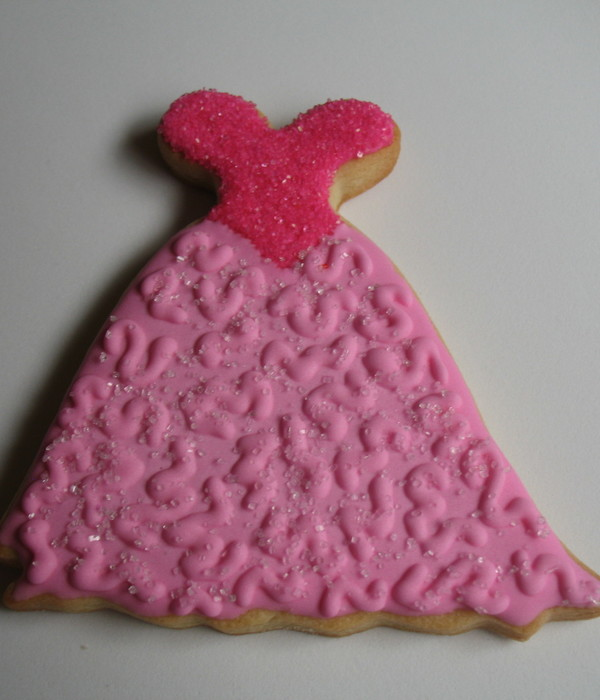 Pink Dress Cookie
