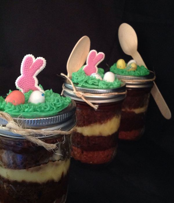 Mason Jar Chocolate Cream Pie Bunny Style