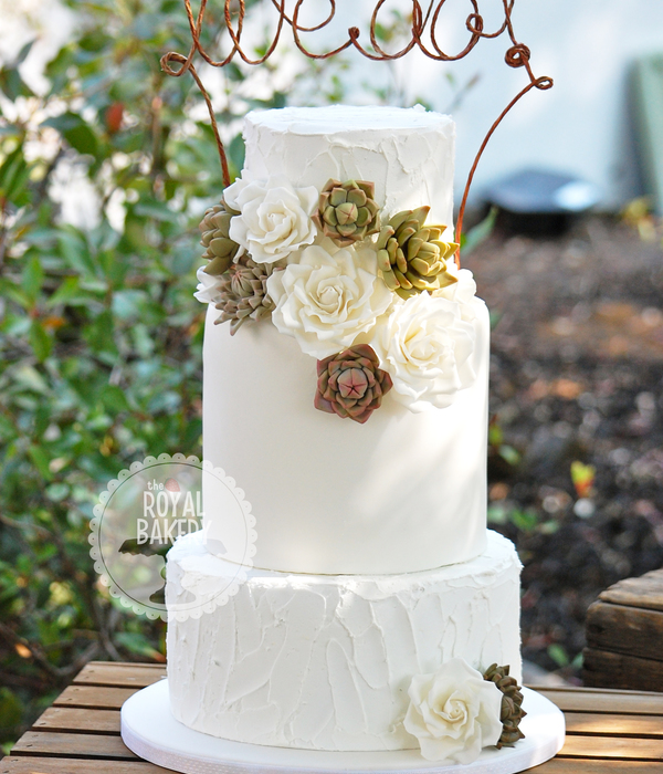 wedding cake decorated with succulents succulent cakes pretty to eat cakecentral 22367