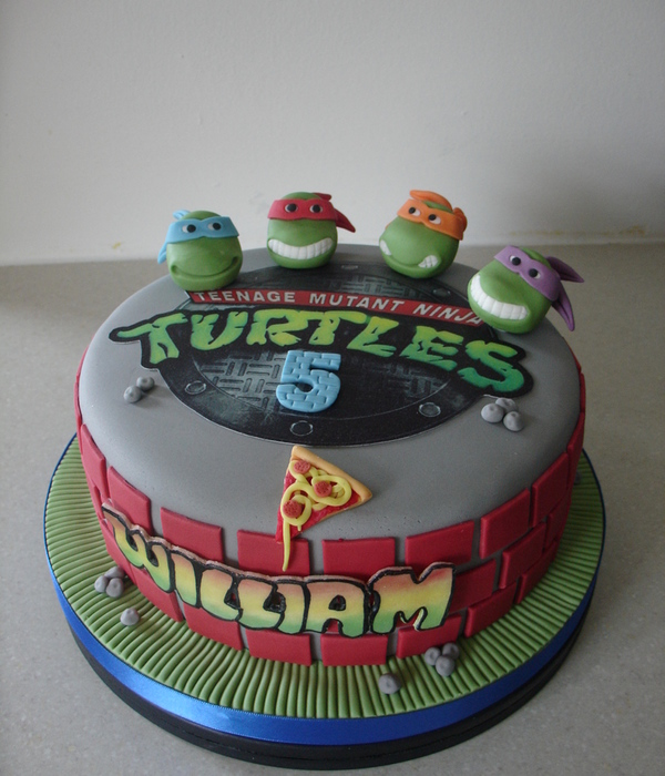 Teenage Mutant Ninja Turtles Fondant Cake