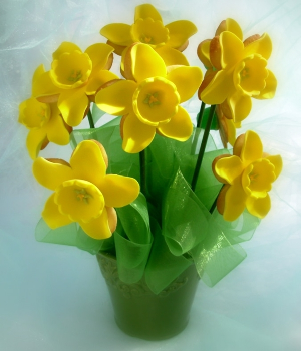 Daffodil Cookie Bouquet