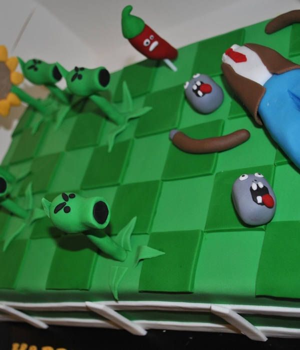 Plants Vs Zombies Game Cake