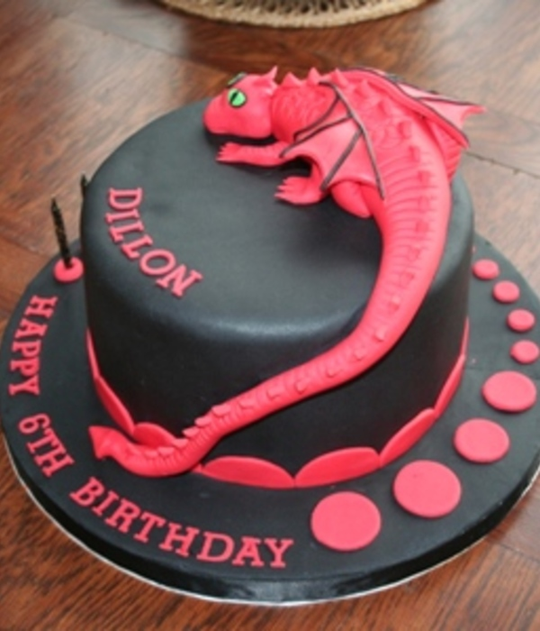 Black & Red Dragon Cake