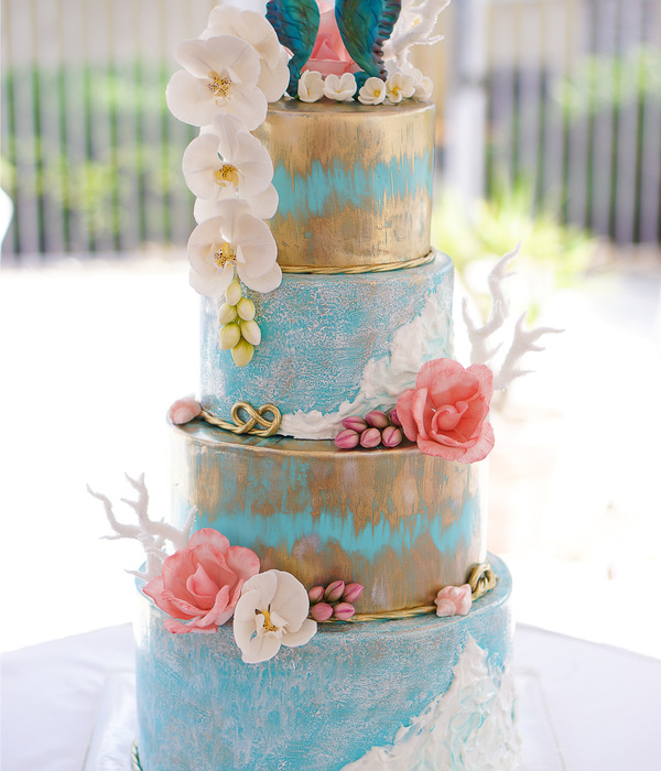 Oceanside Wedding Cake