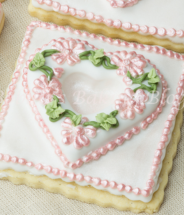 Royal Icing Pressure Scratched Piped Primrose Garden Tufted...