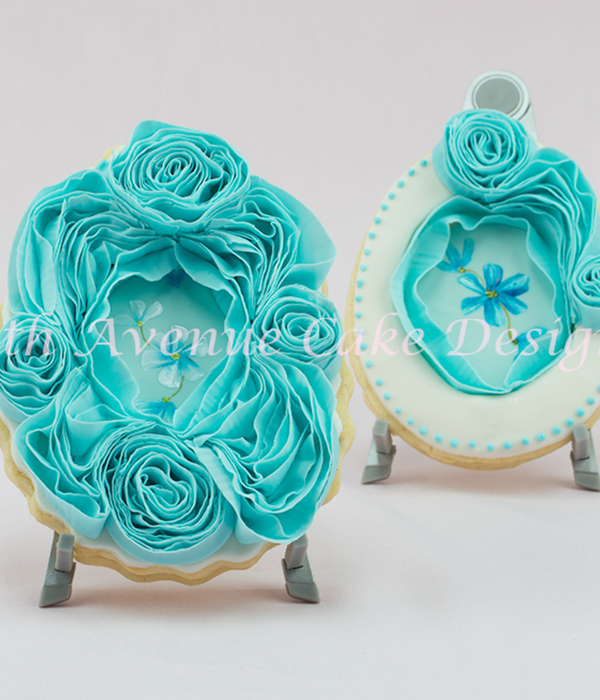 Ruffle Rose Easter Sugar Cookie Frame
