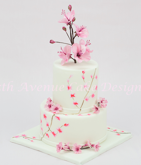 Cherry Blossom Wedding Cake A Marriage Of Traditional Cake...