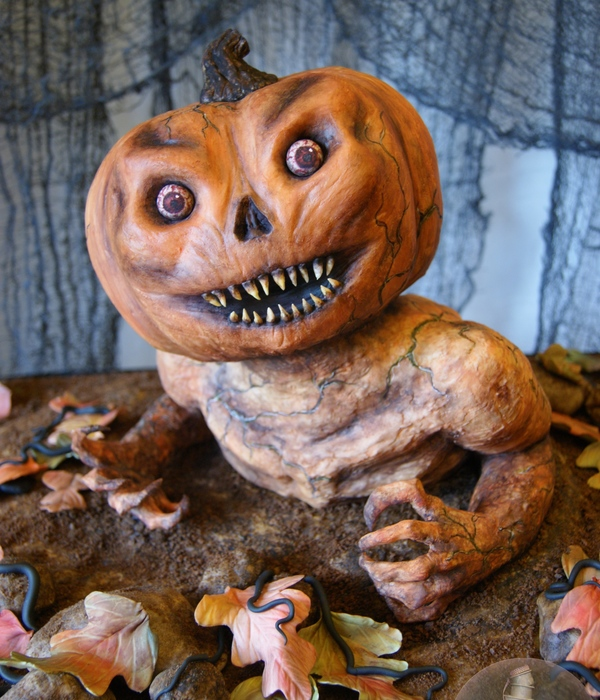 A Pumpkin Monster Birthday Cake
