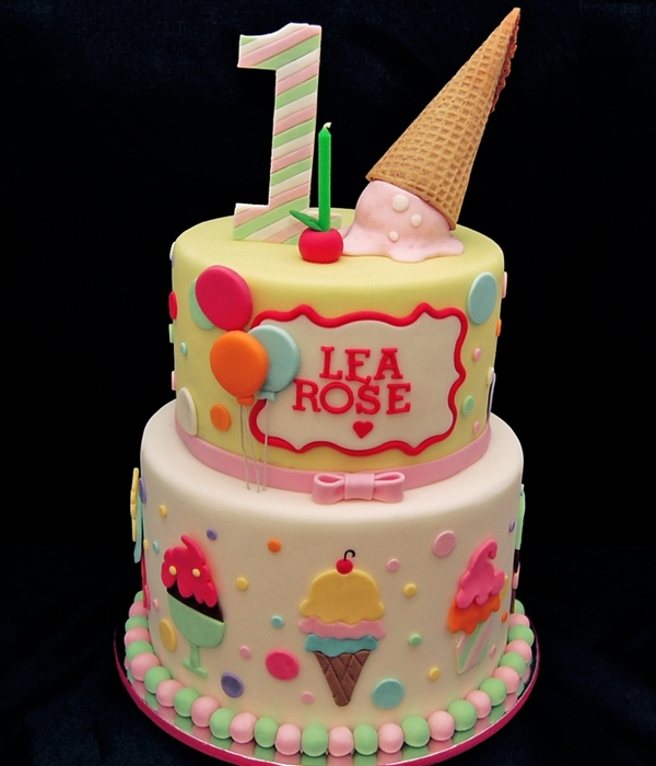Ice Cream And Balloon Cake