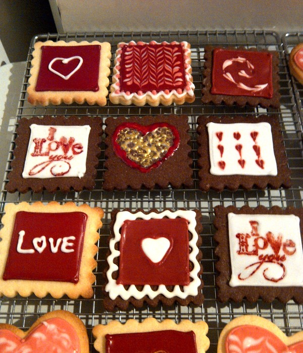 Valentines Day Sugar Cookies 4 Types Of Cookies Vanilla Chocolate Lemon And Almond Sugar Decorated With Royal Icing
