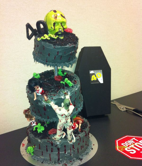Chad's 40Th Zombie Cake