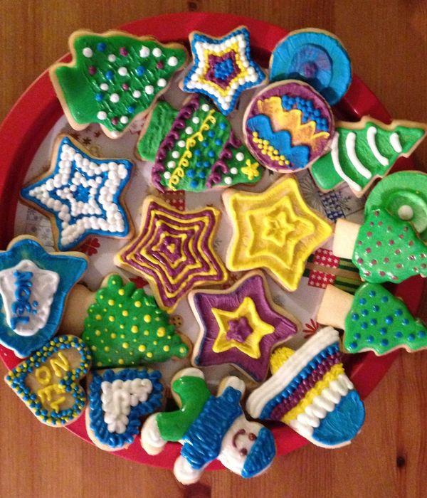 Decoration Biscuit Noel.Biscuits Cake Decorating Photos