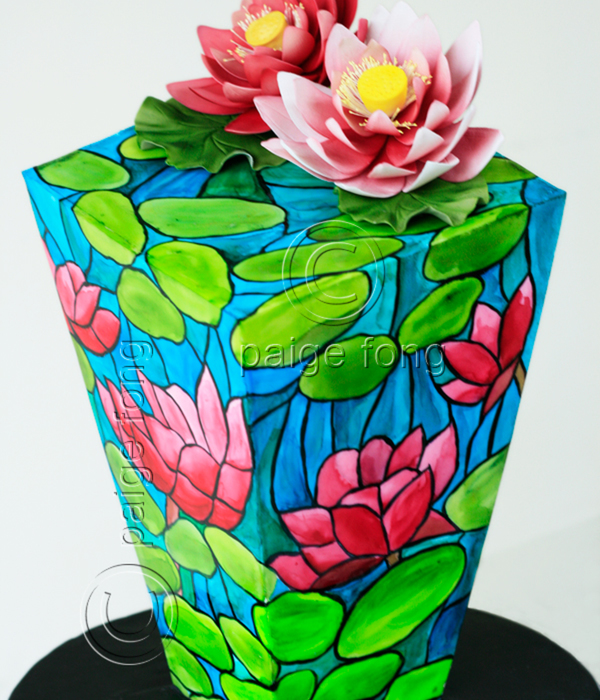 Stained Glass Inverted Waterlily Cake