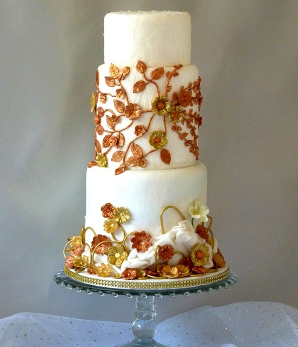 Fashion Inspired Wedding Cake