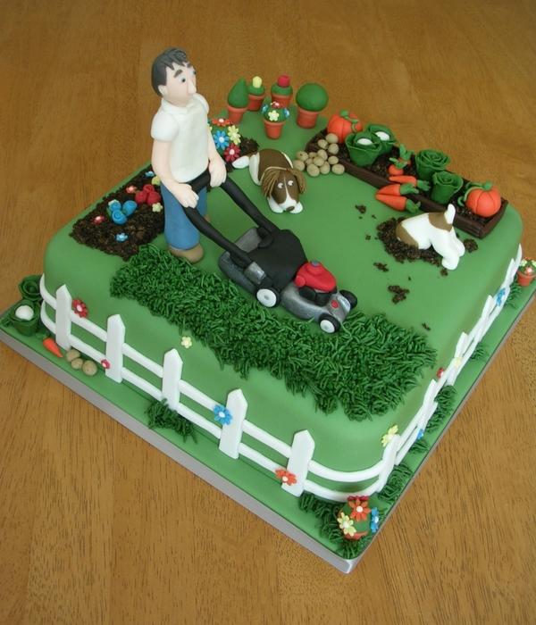 Vegetable garden Cake Decorating Photos