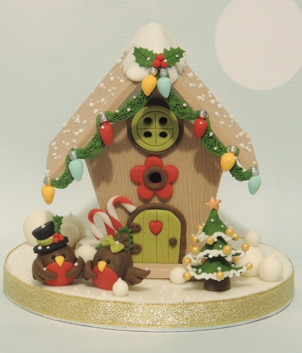 Christmas Birdhouse Topper