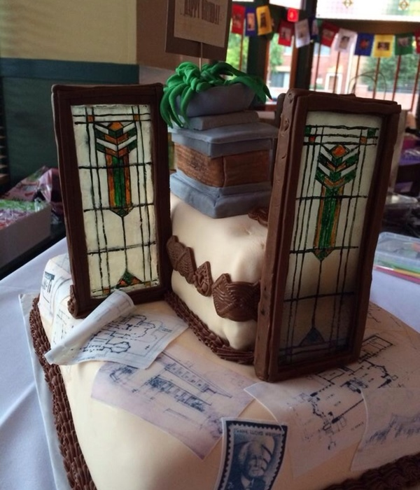 Prairie Style Architect Frank Lloyd Wright Themed Cake...