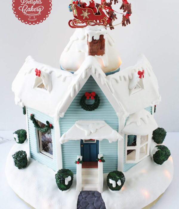 T'was The Night Before Christmas Gingerbread House Ii...