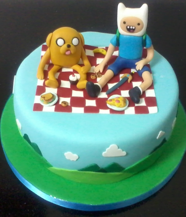 Finn And Jake Cake