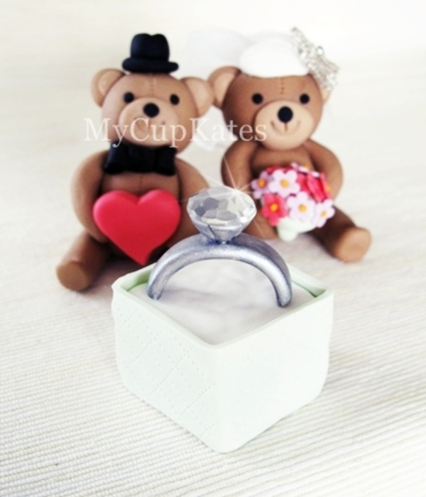 Engagement Ring & Teddy Bears