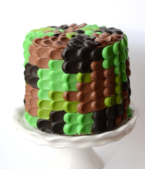 Cookies And Cream Camoflauge Birthday Cake