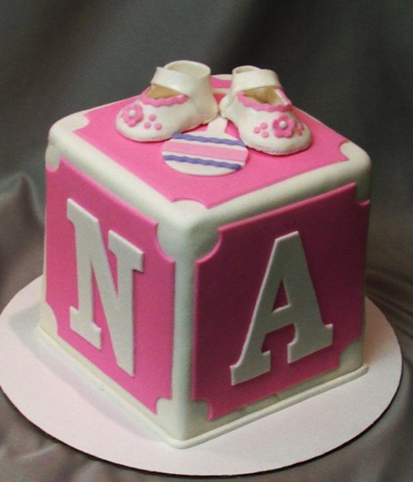 Block Cake For Baby Shower