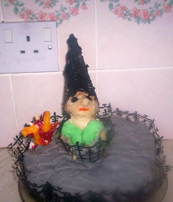 Witch About To Be Burnt At The Stake Cake