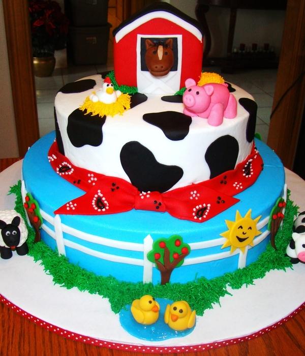 Edible Farm Animal Cake Decorations